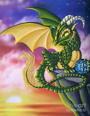 Sunset Dragon Poster