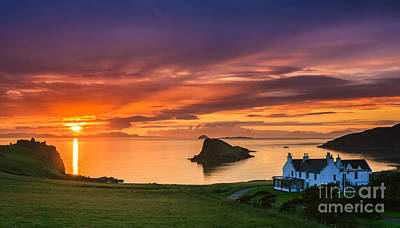 Sunset Duntulm Castle, Scotland Poster by Henk Meijer Photography