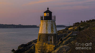 Sunset From Castle Hill Lighthouse. Poster