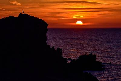 Sunset From Costa Paradiso Poster