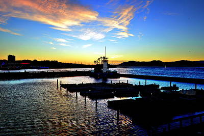 Sunset From Pier 39 - San Fransisco Poster by Glenn McCarthy Art and Photography