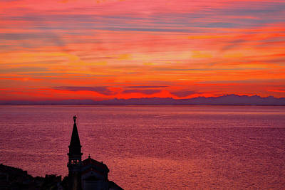 Sunset From The Walls - Piran Slovenia Poster