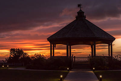 Sunset Gazebo Lavallette New Jersey Poster