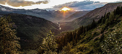 Sunset Glacier National Park 2 Poster by John McGraw