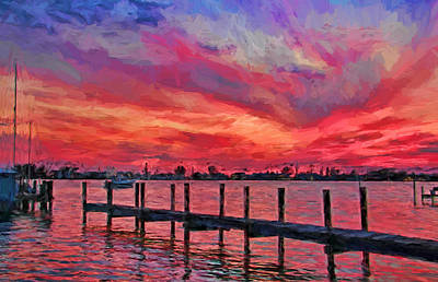 Sunset Impressionism Poster