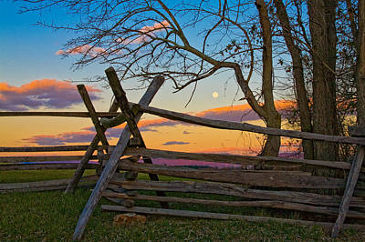 Sunset In Antietam Poster