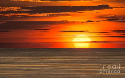 Sunset In Bermuda Poster