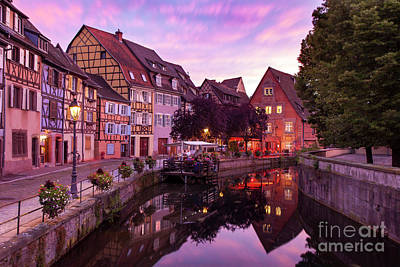 Sunset In Colmar Poster