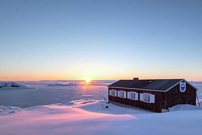 sunset in Ilulissat, Greenland Poster by Joana Kruse