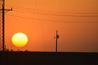 Sunset In Kansas Poster