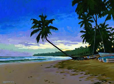 Sunset In Las Terrenas Poster by Douglas Simonson