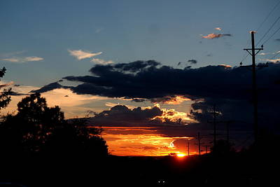 Poster featuring the photograph Sunset In Oil Santa Fe New Mexico by Diana Mary Sharpton