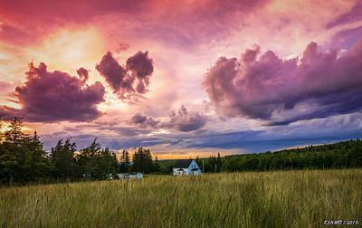 Sunset In Rear Intervale Poster by Ken Morris