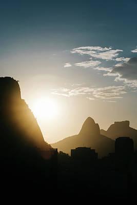 Sunset In Rio De Janeiro, Brazil Poster