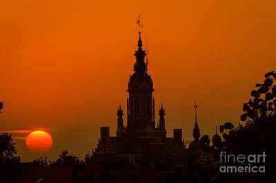 Sunset In Schaarbeek, Brussels Poster by Sinisa CIGLENECKI