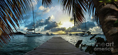 Sunset In The Bvi Poster