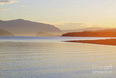 Sunset In The Mist Poster by Victor K
