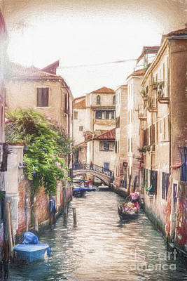 Sunset In Venice Poster by Traven Milovich