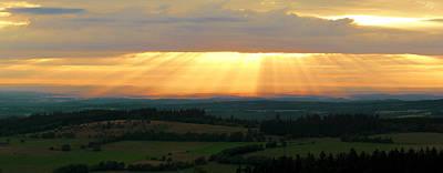 Sunset In Vogelsberg Poster