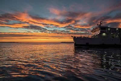 Sunset In Zadar No 1 Poster by Chris Fletcher
