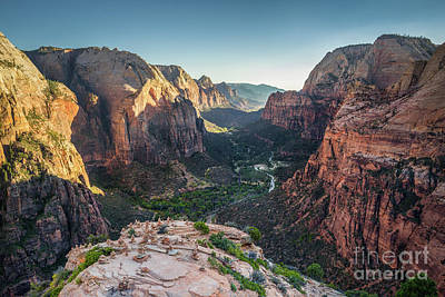 Sunset In Zion National Park Poster by JR Photography