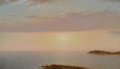 Sunset Poster by John Frederick Kensett
