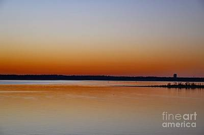 Poster featuring the photograph Sunset Lake Texhoma by Diana Mary Sharpton