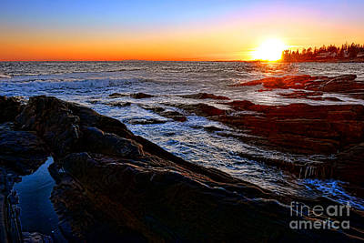 Sunset Off Pemaquid Point Poster