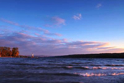 Sunset On Cayuga Lake Ithaca Poster
