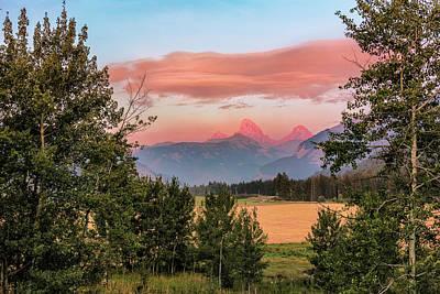 Sunset On Grand Teton Poster by Jeremy Clinard
