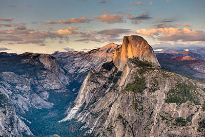 Sunset On Half Dome Poster