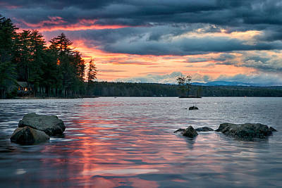 Sunset On Highland Lake Poster by Darylann Leonard Photography