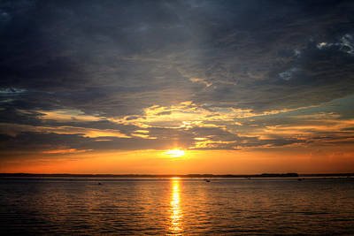 Sunset On Lake Hartwell Poster