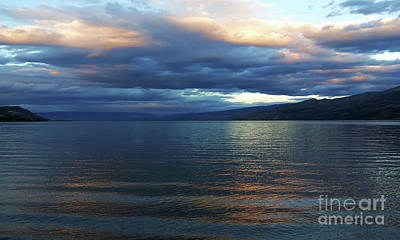 Sunset On Okanagan Lake Poster by Barbara McMahon