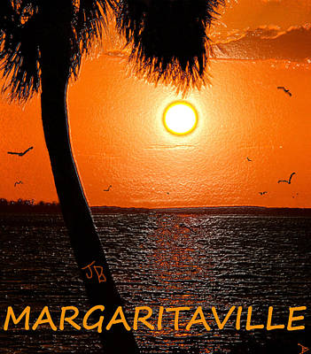 Sunset On Margaritaville Poster by David Lee Thompson