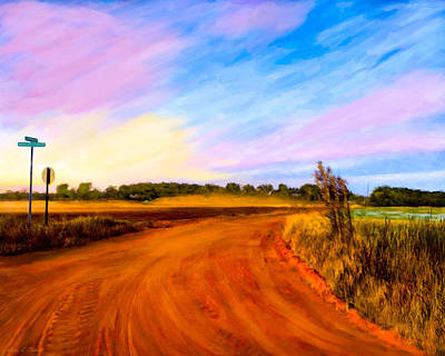 Sunset On Old Dirt Roads In Georgia Poster by Mark E Tisdale