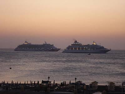 Sunset On Rhodes Island Poster