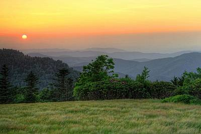 Sunset On Roan Mountain Poster