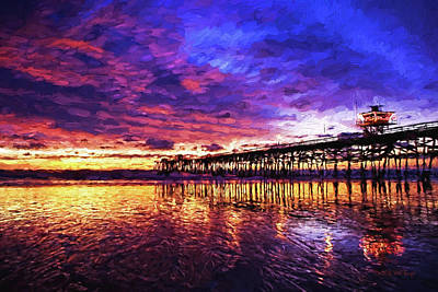 Sunset On San Clemente, Nbr 1c Poster by Will Barger