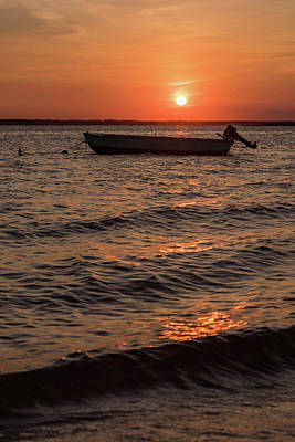 Sunset On The Bay Lavallette New Jersey  Poster by Terry DeLuco