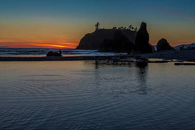 Sunset On The Oregon Coast Poster