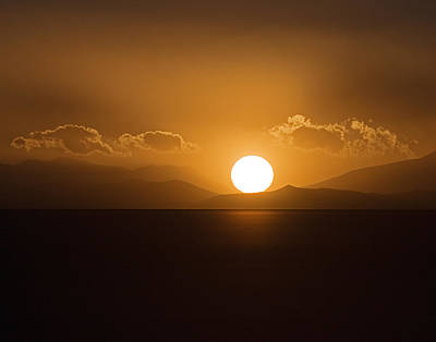 Poster featuring the photograph Sunset On The Salar by Ron Dubin