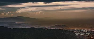 Sunset On The Sandias Poster