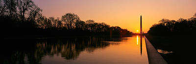 Sunset On The Washington Monument & Poster by Panoramic Images