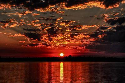 Sunset On The Zambezi Poster