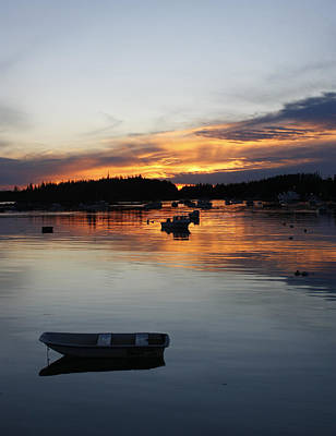 Sunset On Vinalhaven Maine Poster