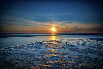 Sunset On West Meadow Beach Poster