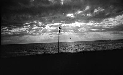 Sunset Ostia Beach Poster