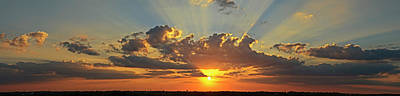 Poster featuring the photograph Sunset Over Austin by Robert Harshman