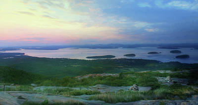 Sunset Over Bar Harbor Poster by Lori Deiter